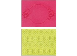 embossing Präge Folder Prægning mapper: Circle Frame & Spark Lina Set