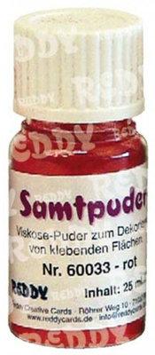 BASTELZUBEHÖR / CRAFT ACCESSORIES polvere di velluto, fiale da 25 ml, rosso