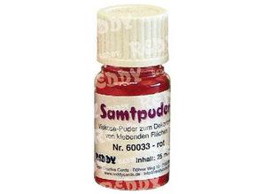 BASTELZUBEHÖR / CRAFT ACCESSORIES Velvet powder, vials of 25 ml, red