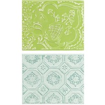 Embossing folders: Free Spirit Florals Set