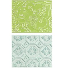 embossing Präge Folder Embossing folders: Free Spirit Florals Set