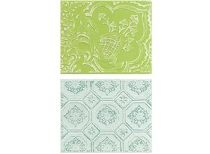 embossing Präge Folder Embossing folders: Free Spirit Florals Set