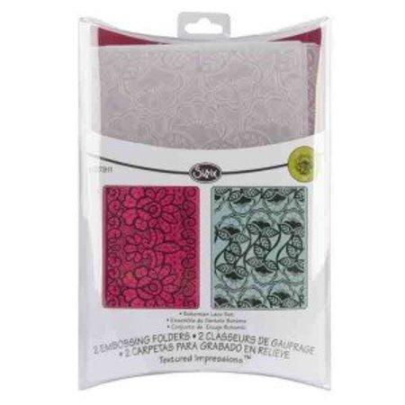 embossing Präge Folder Prægning mapper: Bohemian Lace Set