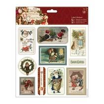 10 Etiqueta / etiquetas engomadas de la Navidad