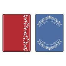 Embossing folders: Mini Banners Set