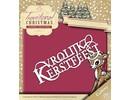 Yvonne Creations stanz- und Prägeschablone:Traditional Christmas Text NL: Vrolijk Kerstfeest