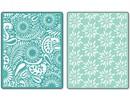 embossing Präge Folder Embossing folders: Daisy Blast & Paisley Palooza Set