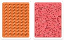 embossing Präge Folder carpetas de grabación en relieve: Chevron y florece un conjunto de