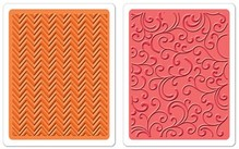 embossing Präge Folder Embossing mapper: Chevron & blomstrer Set