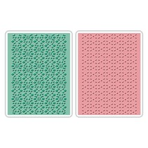 Embossing folders: Lace Set, Patterned / Stitched