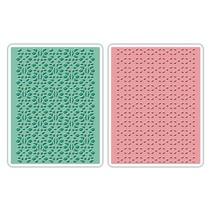 Prägefolder: Lace Set, Patterned / Stitched