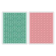 embossing Präge Folder Prägefolder: Lace Set, Patterned / Stitched