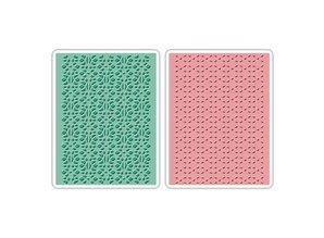 embossing Präge Folder Embossing mapper: Lace Set, Patterned / Stitched