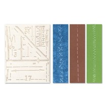 Embossing mappen: Patroon & Stitches Set