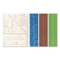 Prægning mapper: Pattern & sømme Set