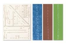 embossing Präge Folder Embossing folders: Pattern & Stitches Set