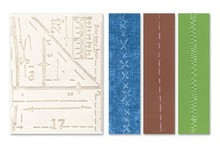 embossing Präge Folder Prægning mapper: Pattern & sømme Set