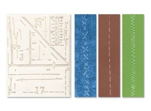 embossing Präge Folder Prægning mapper: Pattern & sømme Set