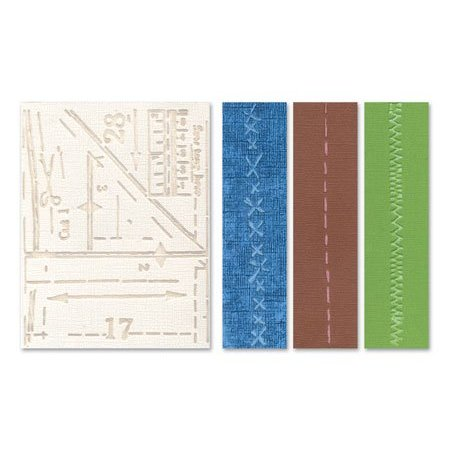 embossing Präge Folder Prägefolder: Pattern & Stitches Set