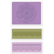 Embossing mappen: Scallop Circle Doily Set
