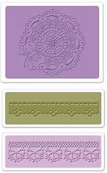 embossing Präge Folder Prägefolder: Scallop Circle Doily Set