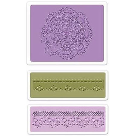 embossing Präge Folder Prægning mapper: Scallop Circle Doily Set