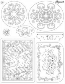 Stempel / Stamp: Transparent Trasparente timbro: angeli e ornamenti
