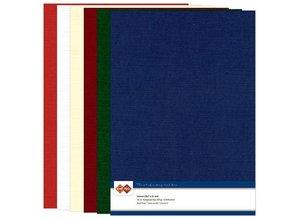 DESIGNER BLÖCKE  / DESIGNER PAPER A4 linen cardboard, Christmas colors