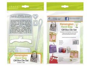 TONIC stamping and embossing folder: 3D handbag