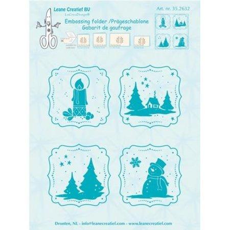 embossing Präge Folder Prägeschablone, geprägte Winter Rahmen