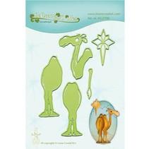 Troquelado y estampado en relieve plantilla: Camel