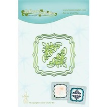 Punching and embossing template: 3 frame and 2 corner