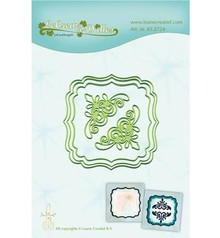 Leane Creatief - Lea'bilities Punching and embossing template: 3 frame and 2 corner
