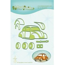 Punching and embossing template: Auto, beetle