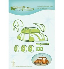 Leane Creatief - Lea'bilities Punching and embossing template: Auto, beetle