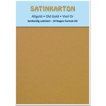 """Satinkarton A4, """"Altgold"""""""