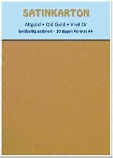 """DESIGNER BLÖCKE  / DESIGNER PAPER Satin cardboard A4, """"old gold"""""""