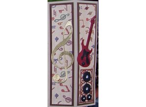 Yvonne Creations Stamping and embossing stencil, Guitar
