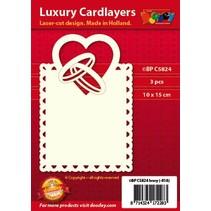 layout do cartão de Luxo: Jogo de 3