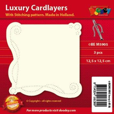 KARTEN und Zubehör / Cards Luxus Kartenlayouts: Set mit 3 Stück
