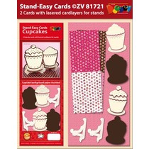 Set 2 Stand-Easy CupCake Cards