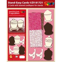 Sett 2 Stand-enkel Cupcake kort