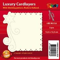 carte de luxe mise en page: lot de 3