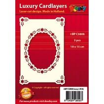 Luxury kort layout: sett med 3