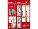 KARTEN und Zubehör / Cards 6 diseños de tarjeta de lujo con diseños de Navidad