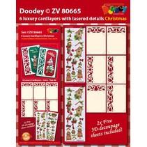 6 Luxe kaartje indelingen met het design van Kerstmis