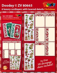KARTEN und Zubehör / Cards 6 layout di carta di lusso con disegni di Natale