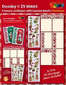 KARTEN und Zubehör / Cards 6 Luxus Kartenlayouts mit weihnachtlichen Designs