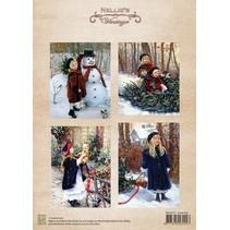 Bilderbogen, diversión en la nieve de la Navidad de la vendimia