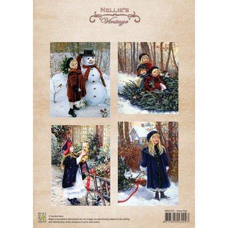 BILDER / PICTURES: Studio Light, Staf Wesenbeek, Willem Haenraets Bilderbogen, Vintage julen sne sjovt